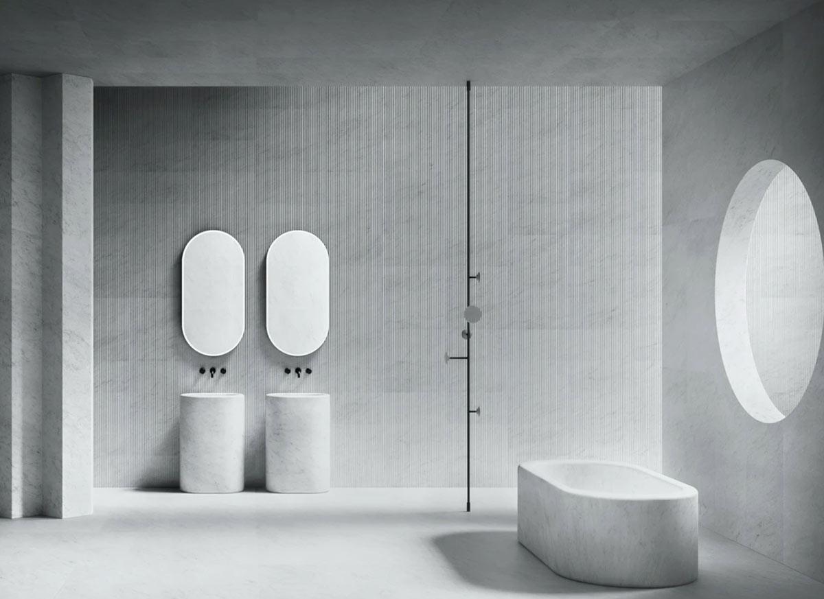 baños de mármol con Salvatori