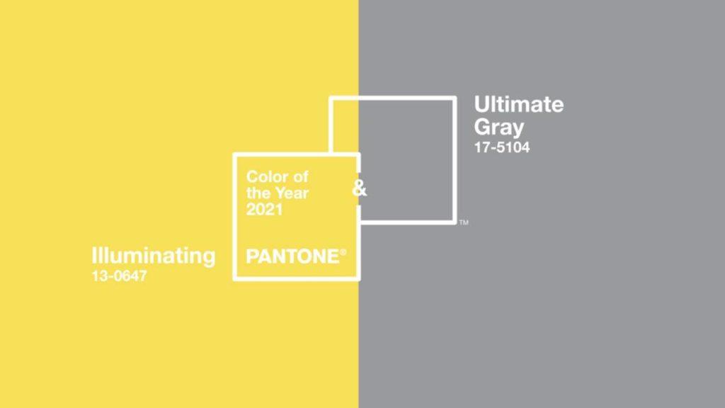 Colores Pantone 2021 Ultimate Grey Illuminating
