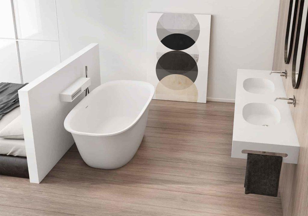 Ambiente baño con bañera, Oleiros